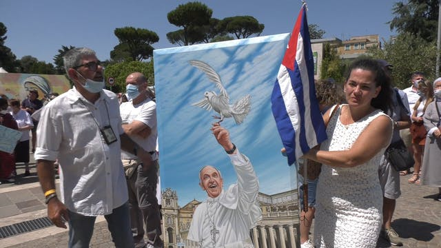 Cuban artist does get-well painting f...