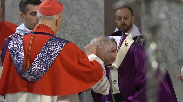 Ash Wednesday: Pope Francis will stay...