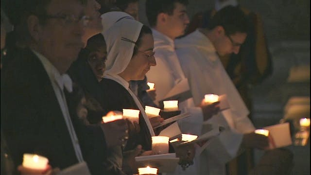 El Papa celebra con religiosas y reli...