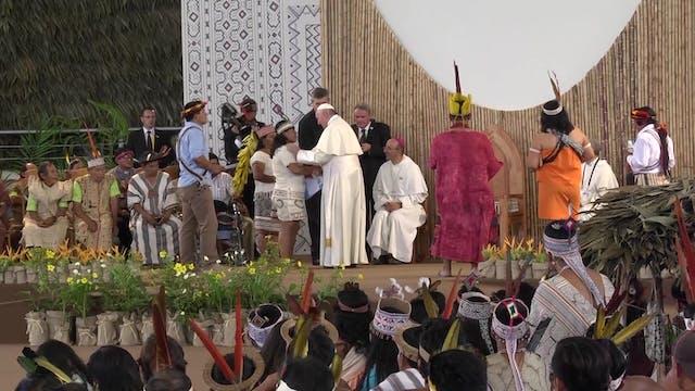 Pope resumes his public agenda and pr...