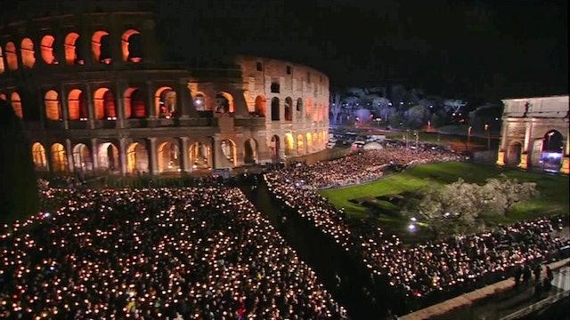El Vía Crucis en el Coliseo, una antigua tradición