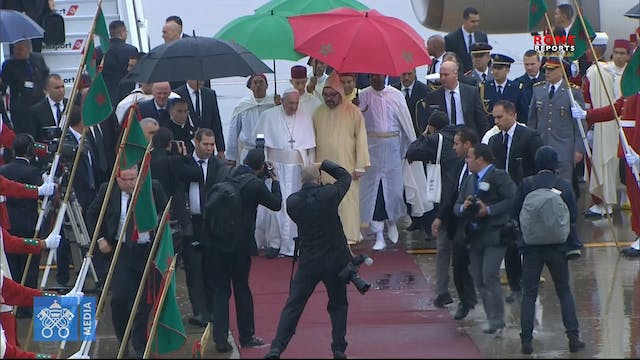 Pope Francis arrives in Morocco