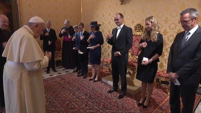 Pope Francis meets Germany's new amba...