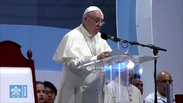"""Papa en Vía Crucis de JMJ: """"El conformismo es una de las drogas más consumidas"""""""