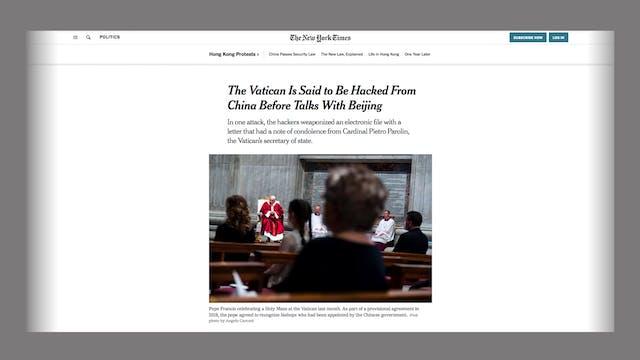China habría hackeado al Vaticano en ...