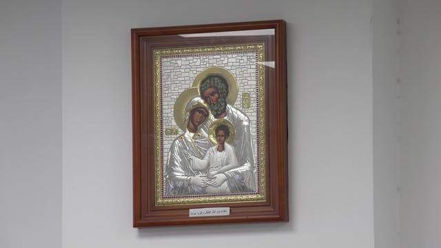 La imagen de la Sagrada Familia que p...