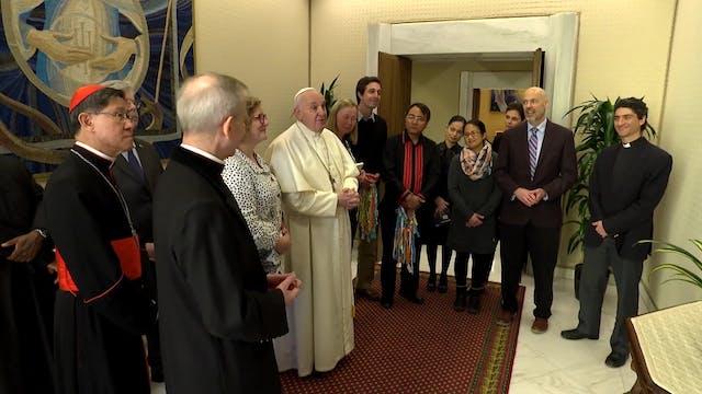 El Papa se reúne con directivos del M...