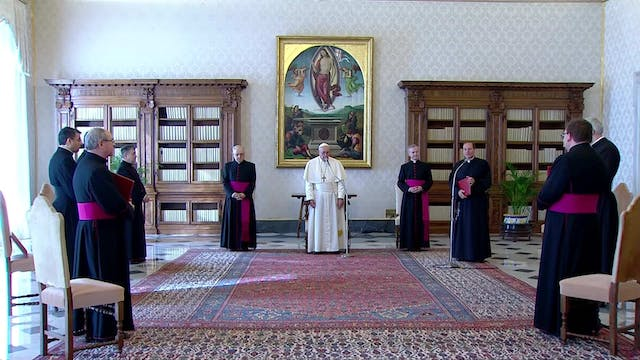 Pope at General Audience thanks all p...