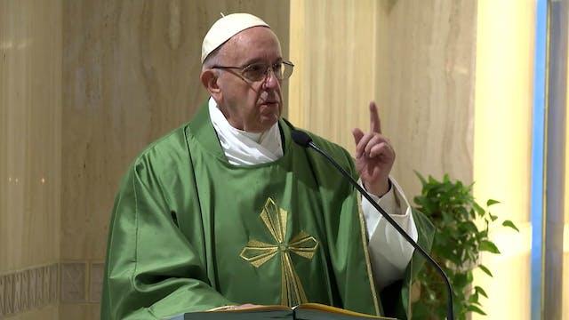 Papa en Santa Marta: Piensa en un ene...