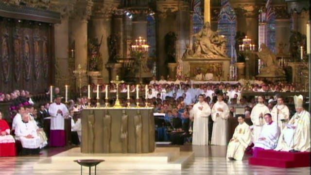 La última visita de un Papa a Notre Dame