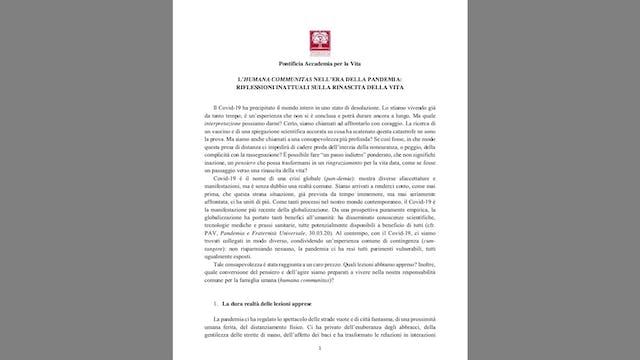 Así es el nuevo documento del Vatican...