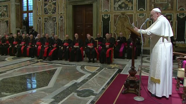 Pope wishes Curia Merry Christmas and...