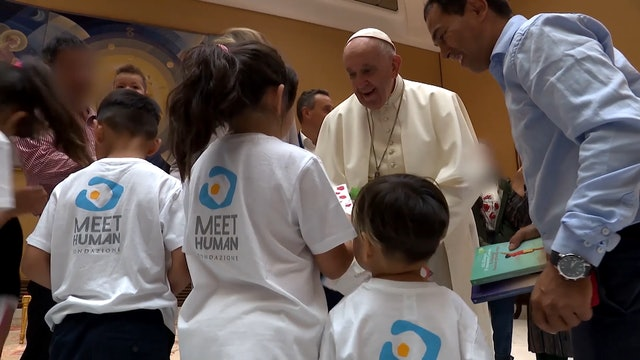 Pope Francis meets Afghan Christians who escaped from the Taliban
