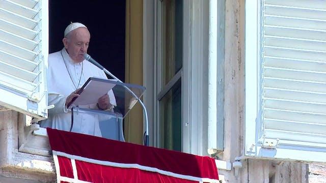"""Francisco en el Ángelus: """"Pienso en S..."""