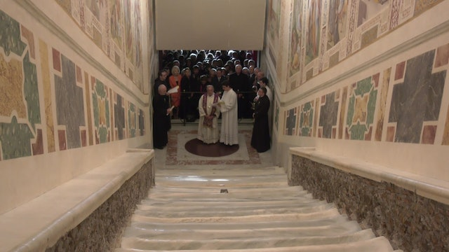 Holy Stairs reopen with original marble stairs and revived frescoes