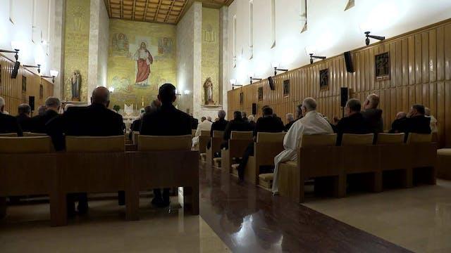 El Papa comienza sus ejercicios espir...