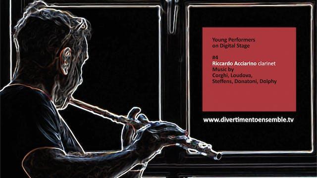 #4 Riccardo Acciarino, clarinet