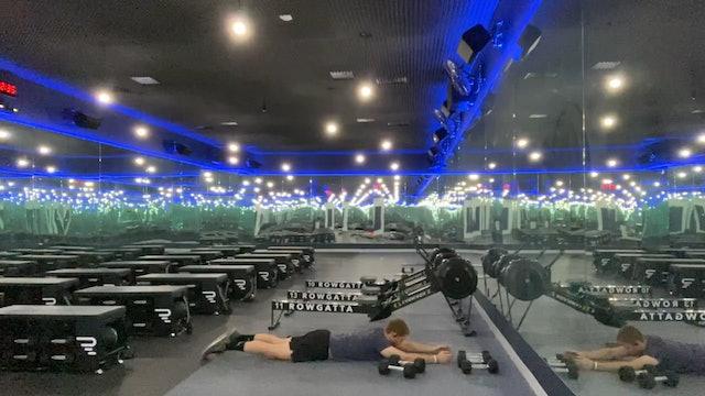 "Weights (dumbbells) | Full Body | Coach Nadav | For Time: ""Godspeed"""
