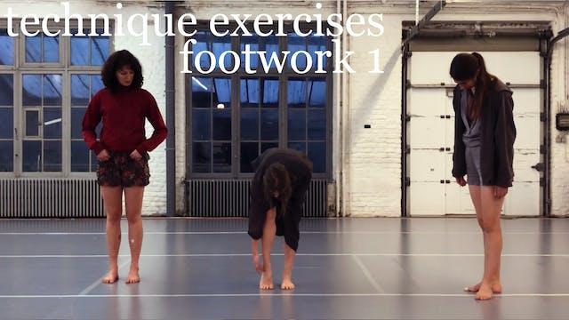 technique exercises: footwork 1