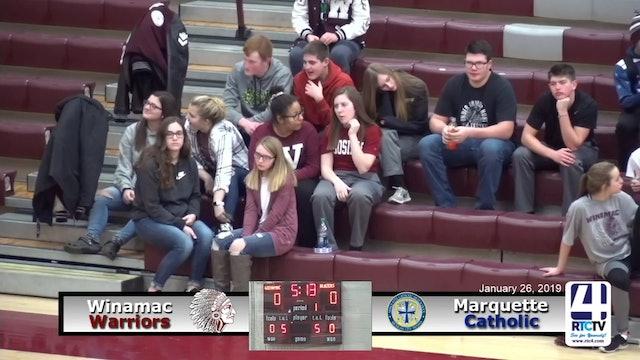 Winamac Boys Basketball vs Marquette Catholic - 1-26-19
