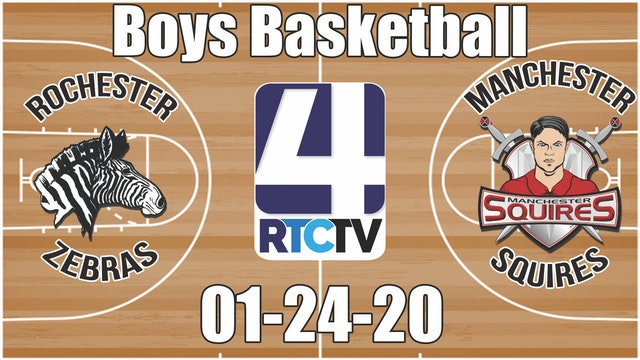 Rochester Boys Basketball vs Manchester 1-24-20