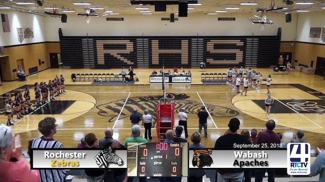 Rochester Volleyball vs Wabash - 09-25-18