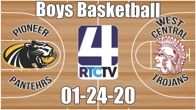 Pioneer Boys Basketball vs West Central 1-24-20