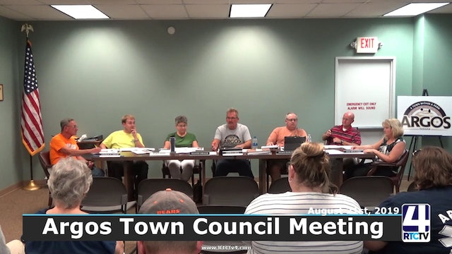 Argos Town Council Meeting 8-21-19