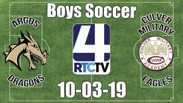 Argos Soccer vs Culver Academies 10-3-19