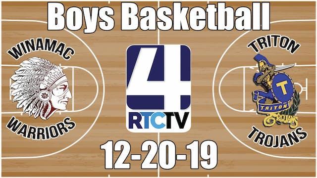 Winamac Boys Basketball vs Triton 12-...