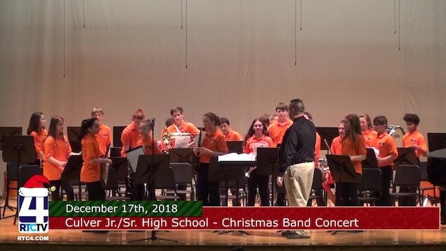 Culver Comm. Jr.Sr. High School Band Concert 12-17-18