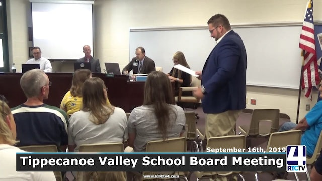 Tippecanoe Valley School Board Meeting - 9-16-19