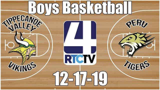 Tippecanoe Valley Boys Basketball vs Peru 12-17-19