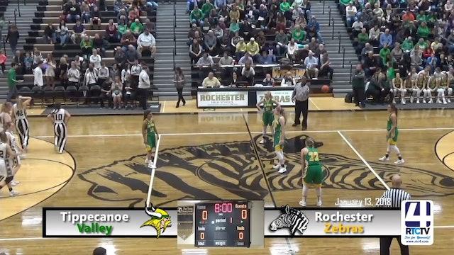 Rochester Girls Basketball vs Tippecanoe Valley 01-13-18