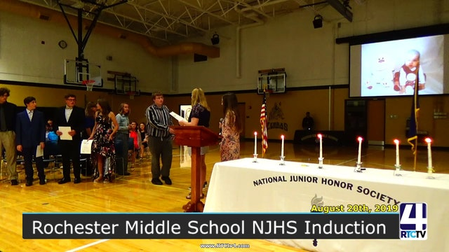 Rochester Middle School NJHS Induction - 8-20-19