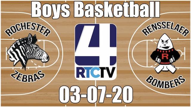 IHSAA Boys Basketball Sectional #37 Championship Rochester vs Rensselaer 3-7-20