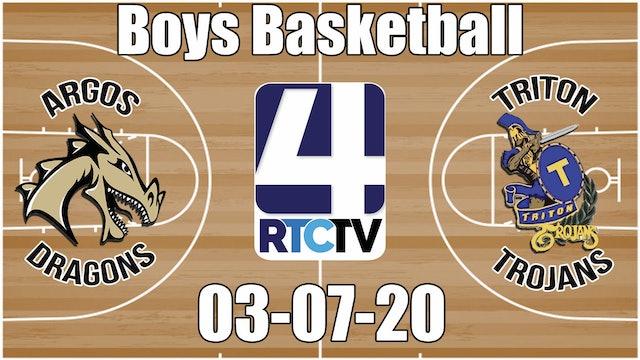 IHSAA Boys Basketball Sectional #50 Championship Argos vs Triton 3-7-20
