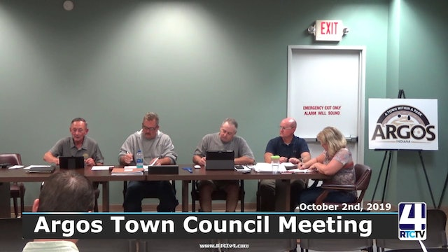 Argos Town Council Meeting - 10-2-19