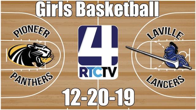 Pioneer Girls Basketball vs LaVille 12-20-19