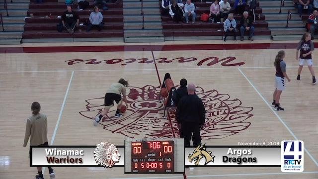 Winamac Girls Basketball vs. Argos 11-9-18