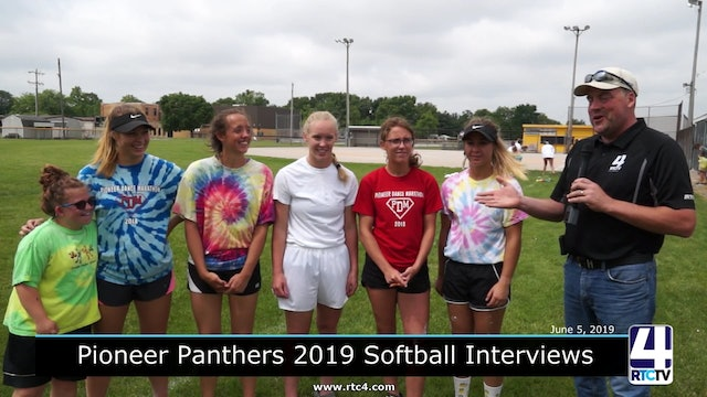 RTCtv4 Sports Interviews - Pioneer Softball Pre State game - 6-5-2019