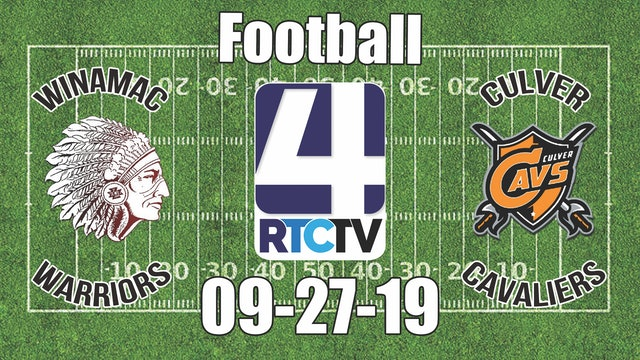 Winamac Football vs Culver 9-27-19