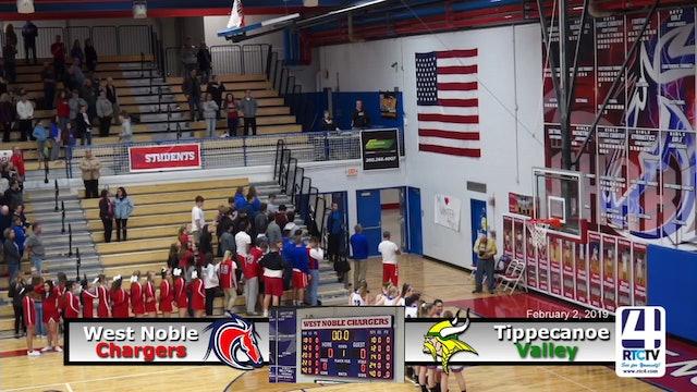 Tippecanoe Valley Girls Basketball @ West Noble - 2-2-19