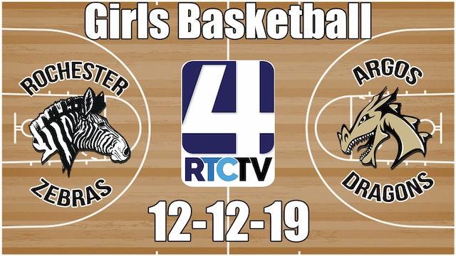 Rochester Girls Basketball vs Argos 12-12-19