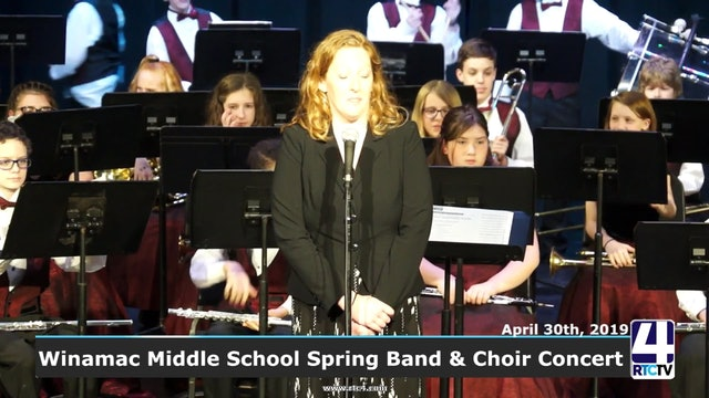 Winamac Middle School Spring Choir and Band Concert 4-30-19