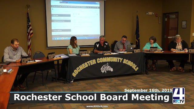 Rochester School Board Meeting - 9-16-19
