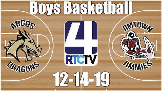 Argos Boys Basketball vs Jimtown 12-14-19