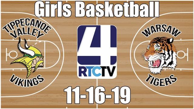Tippecanoe Valley Girls Basketball vs Warsaw 11-16-19