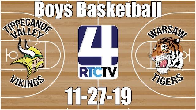 Tippecanoe Valley Boys Basketball vs Warsaw - 11-27-19