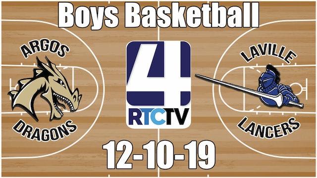 Argos Boys Basketball vs LaVille 12-10-19
